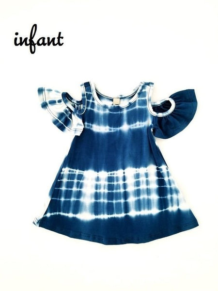 Indigo Tie Dye - Infant Dress