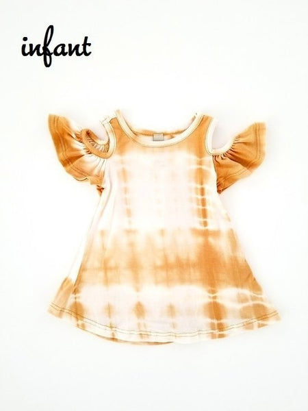 Mustard Tie Dye - Infant Dress