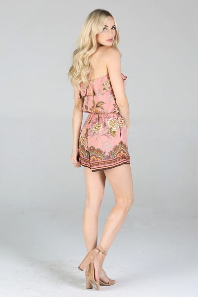 Mommy + Me - Women's Romper - Rose Floral