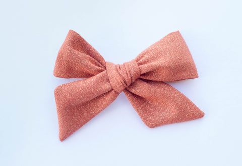Wanderlust and Mayhem - Copper Shimmer Hair Bow