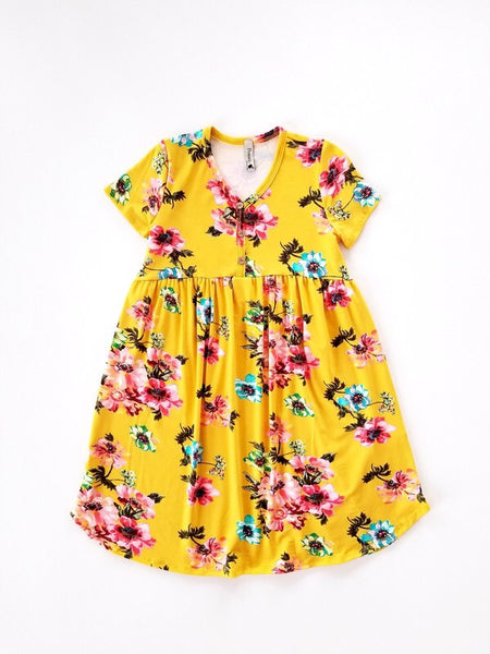 Pomelo - Dress Mustard Floral