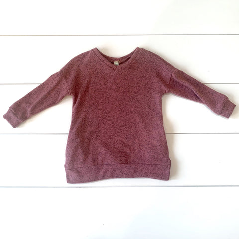 Toddler - Mauve Fuzzy Knit Sweater