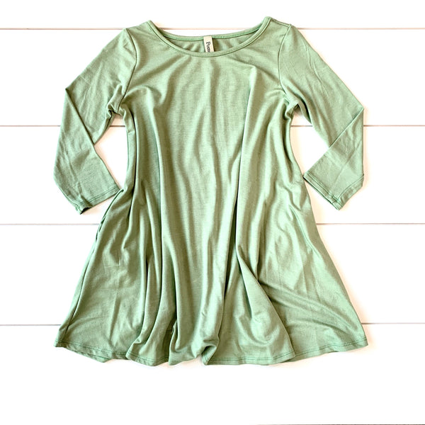 Toddler & Kids Dress - Sage Green - Pomelo
