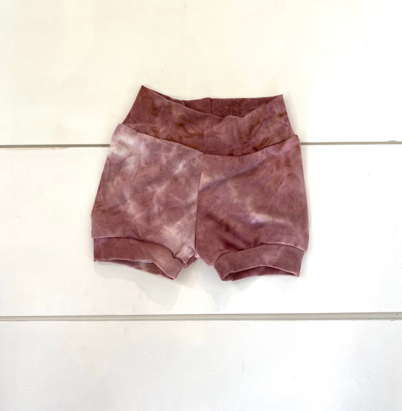 Infant - Mauve Tie-Dye Shorties