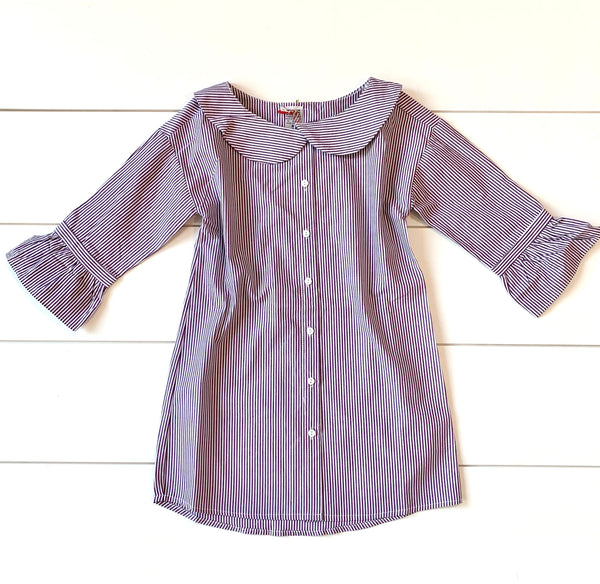 MOA USA Kids Dress - Striped Lilac