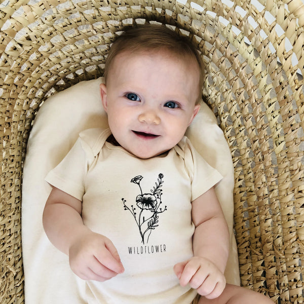 Infant - Organic Bodysuit - Wildflower