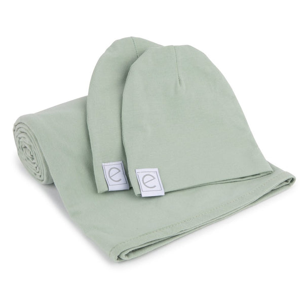 Infant - Swaddle + Two Beanie Gift Set