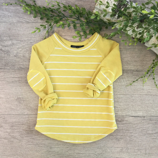 Sweet Claire Yellow Stripe Raglan LS
