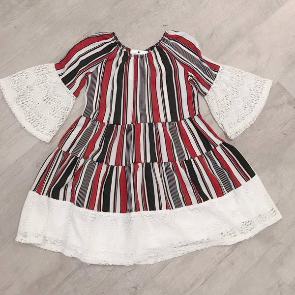 Lace Bell Sleeve - Kids Dress