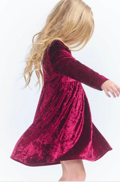 Toddler & Kids - Velvet Long Sleeve Dress