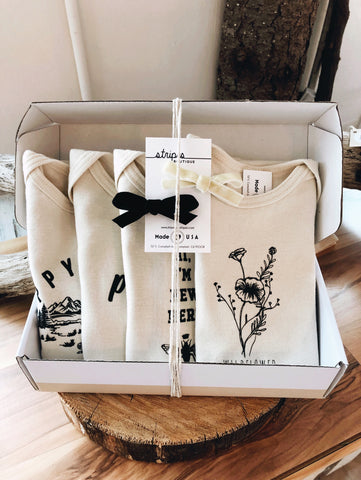 Gift Box - Organic Cotton Bodysuit set