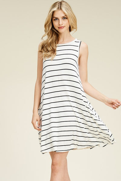 Classic Stripe - Mommy & Me Sleeveless Women's Dress