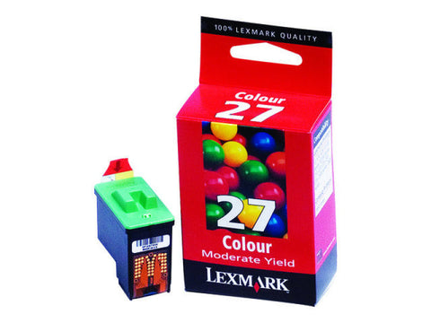 Lexmark Cartridge No. 27 - Print cartridge - 1 x colour (cyan, magenta, yellow) - 140 pages - akcom.net
