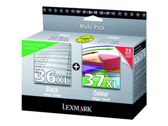 Lexmark 36XL and 37XL Black and Colour Twin Pack - akcom.net