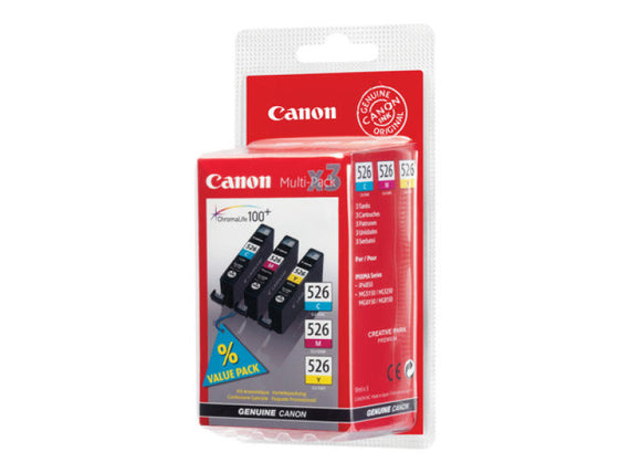 Canon CLI 526 Multipack Ink Cartridge- Blister Cyan Yellow Magenta - akcom.net