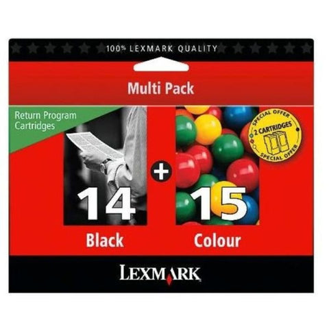 Lexmark Combo Pack 14/15 Ink Cartridge Pack - akcom.net