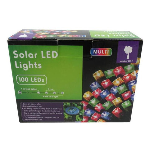 100 Solar LED Lights - Multi Colour