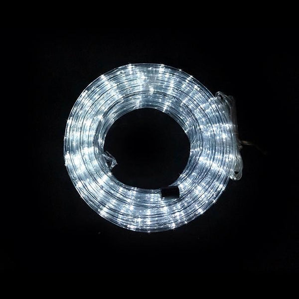 10M Solar LED Rope Light White