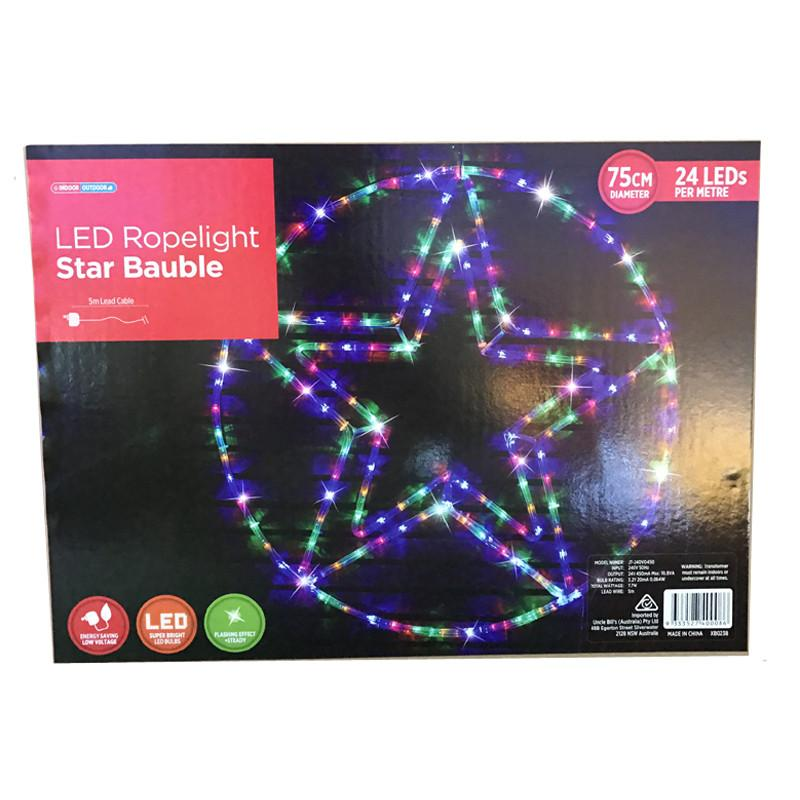LED Rope Light Star Bauble - Christmas World