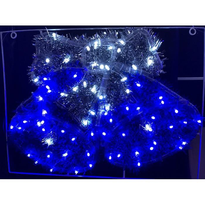 LED rope Light Tinsel Twin Bells - Christmas World