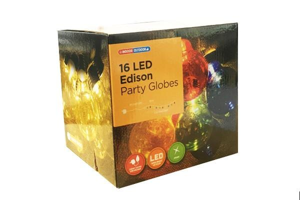 16 LED Edison Party Globes