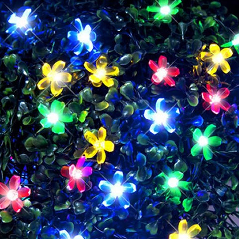 200 LED Flower Lights - Multi