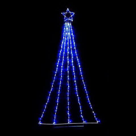 2.4M LED Waterfall Star - White & Blue