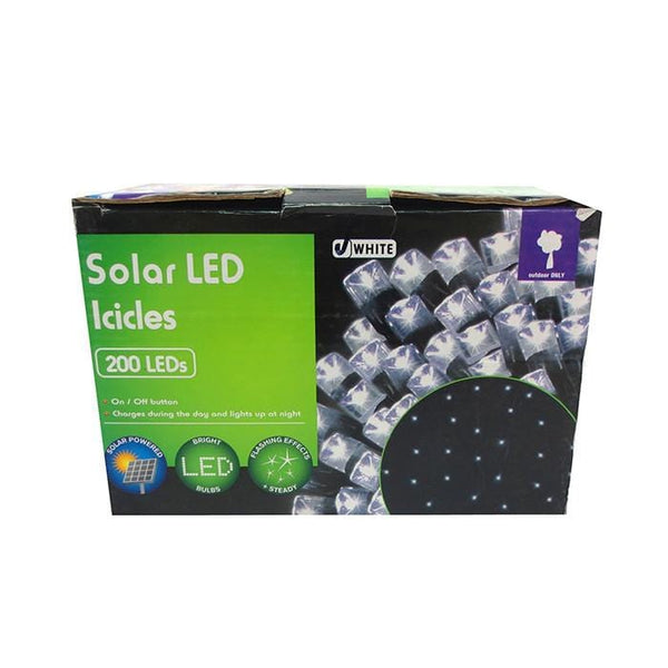 Solar LED Icicles | White - 200 LED's