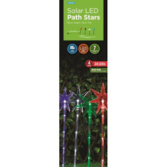 Solar LED Path Star Bursts 4pack - Christmas World