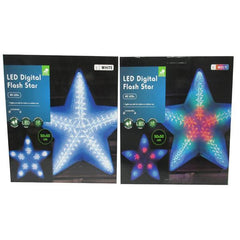 LED Digital Flashing Star 45LED's - 50CM - Christmas World