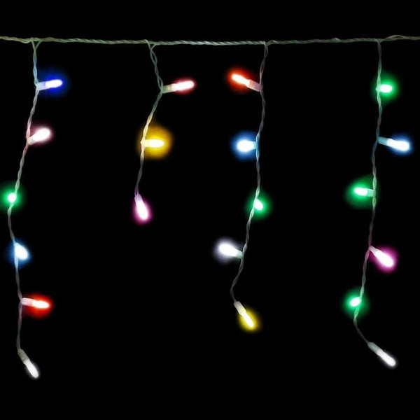 200 LED Icicle Lights 10M - Multi Colour - Christmas World