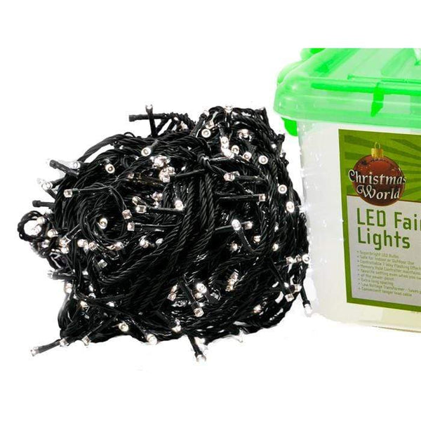 600 LED Fairy Lights - White - Christmas World