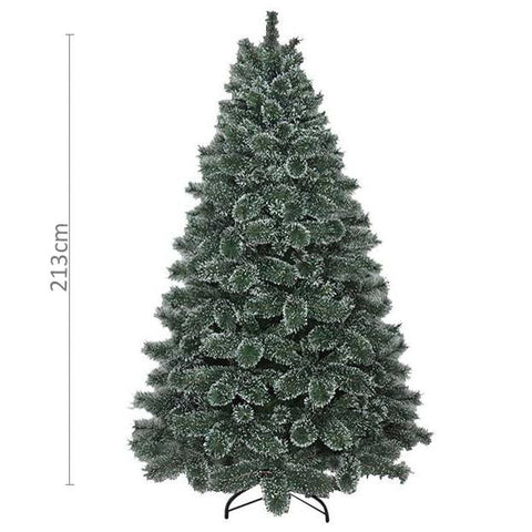 7ft Bottle Brush Snow Tipped Christmas Tree