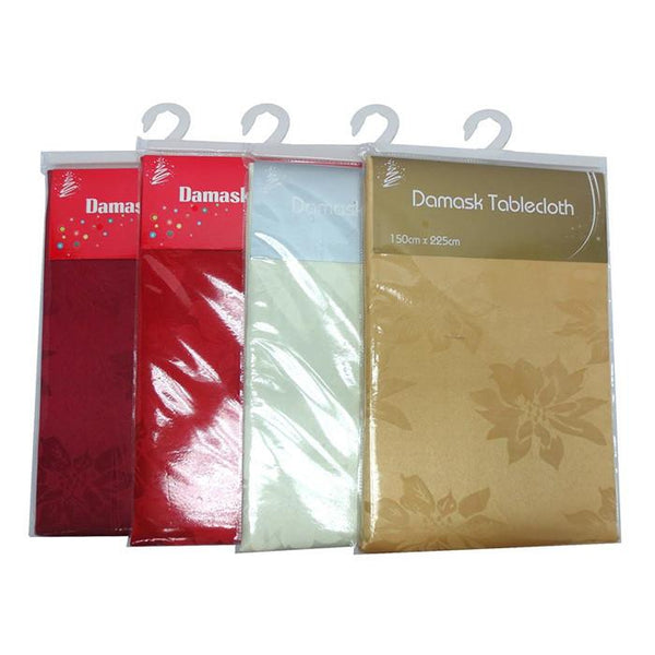 Damask Tablecloth 150x225cm - Christmas World