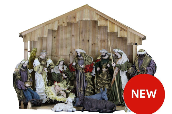 LIMITED STOCK: Nativity Scene Full Set With 1.3M Tall Stable