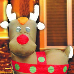 Back in Stock: Inflatable Rudolf - 120CM - Christmas World