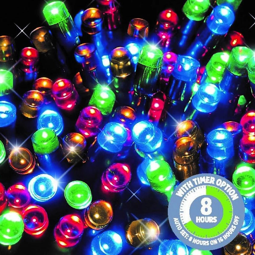 100 LED Fairy Lights - Multi Colour - Christmas World