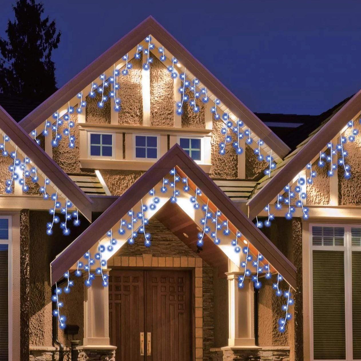 Icicle Lights - Blue - 400 LED