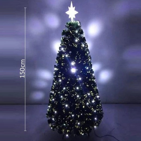 1.8m FIBREOPTIC Christmas Tree with WHITE LED - Christmas World
