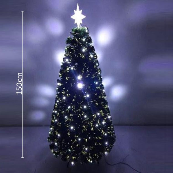 White LED Fiber Optic Tree - 1.5m - Christmas World