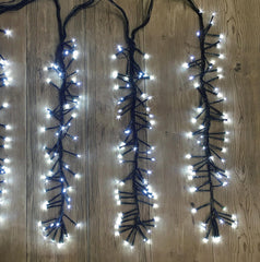 1152 LED FIRECRACKER CLUSTER - WHITE 9.2M x 50CM Drop - Christmas World