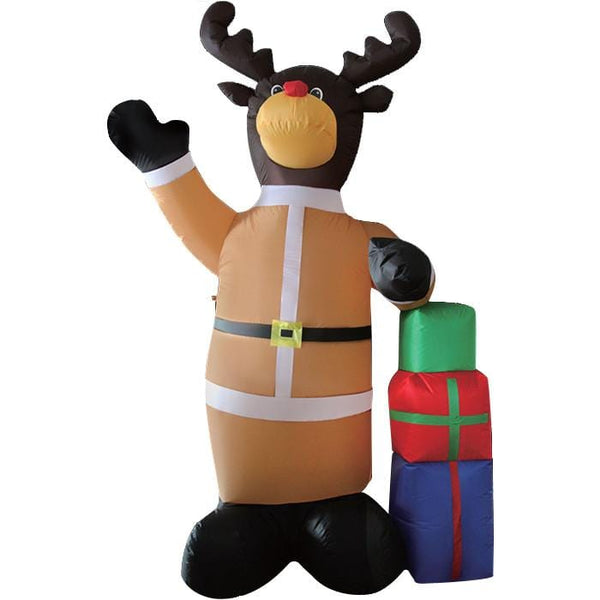 Inflatable Reindeer with Presents - Christmas World
