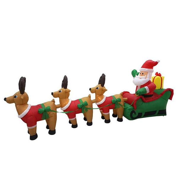 Airpower Sleigh with Deers - Christmas World
