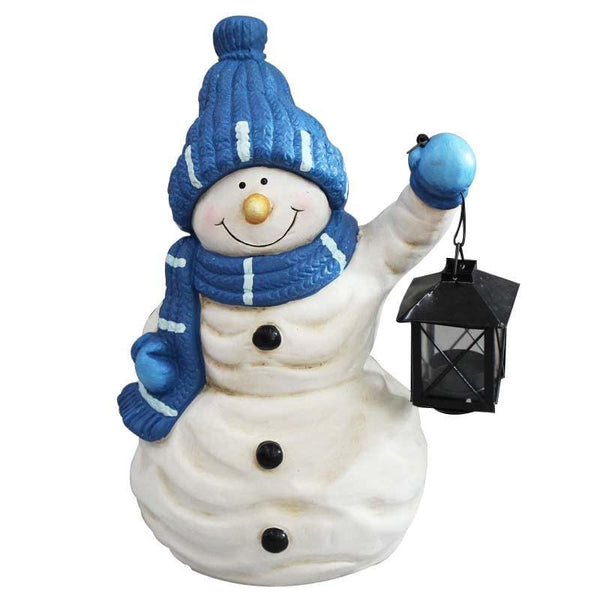 Snowman with Lantern - Christmas World