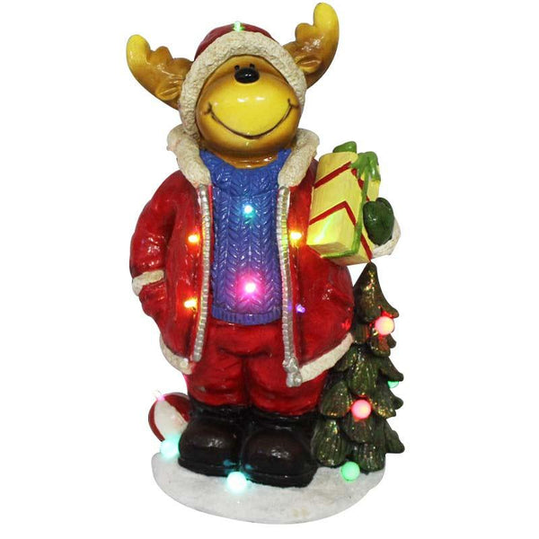 Reindeer with Music & Lights Decoration - Christmas World