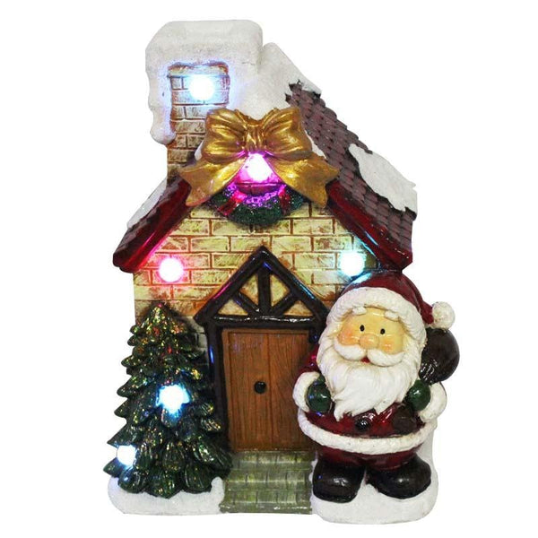 Santa House Music & Lights Decoration - Christmas World