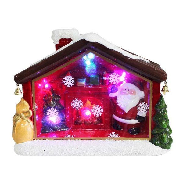 Christmas House with LED Lights - Christmas World