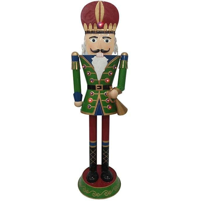 Christmas Metal Nutcracker with Solar Panel LED - Christmas World