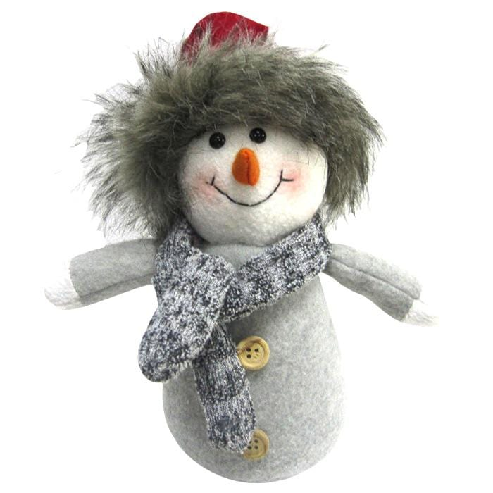 Christmas Fabric Snowman Decoration - Christmas World