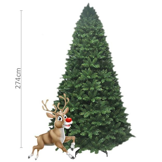 9ft Radiata Pine Green  Tree - Christmas World
